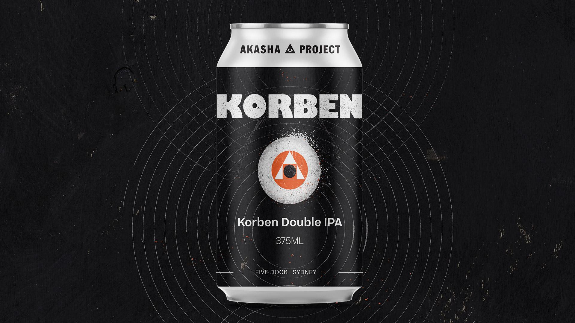 New Release: Korben Double IPA - Akasha Brewing Company
